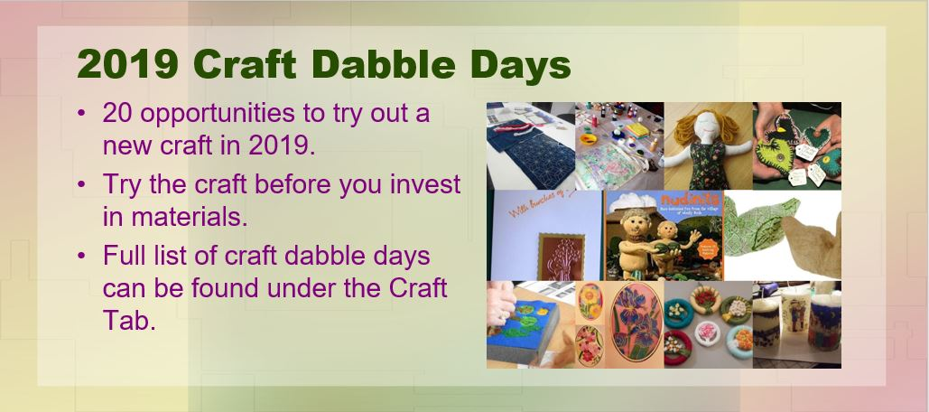 2019 Craft Dabble Day Slider
