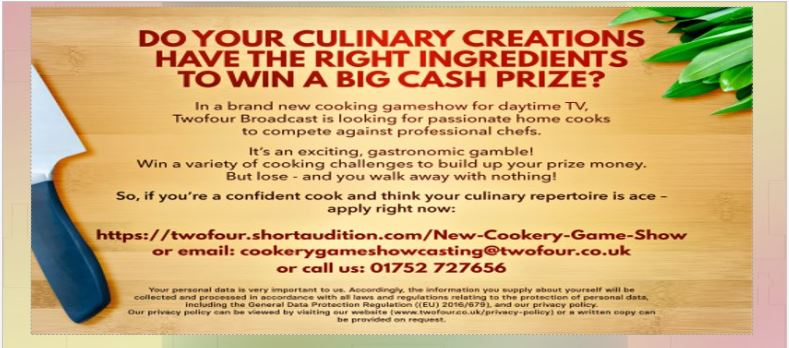 Channel 4 Search for a Cook Oct 18