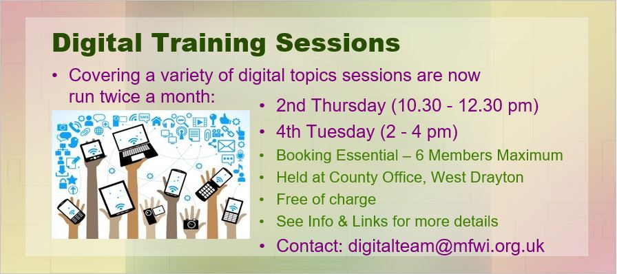 Digital Training Sessions 2019