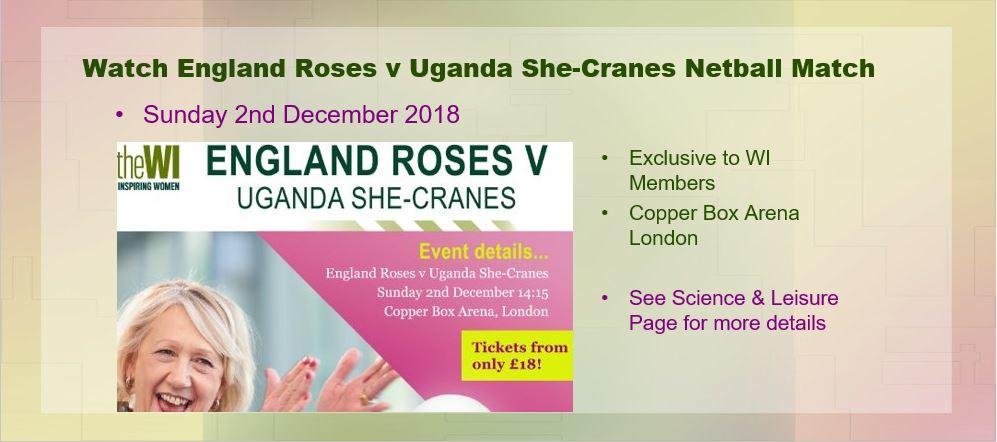 England Roses vs Uganda She-Cranes 2 December 2018