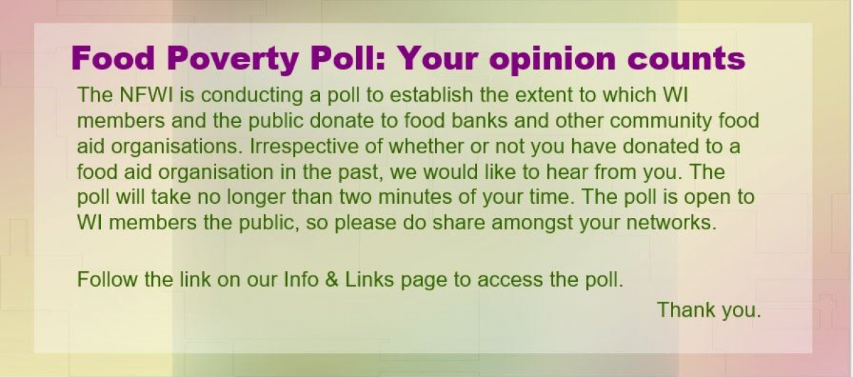 Food Poverty Poll December 2018