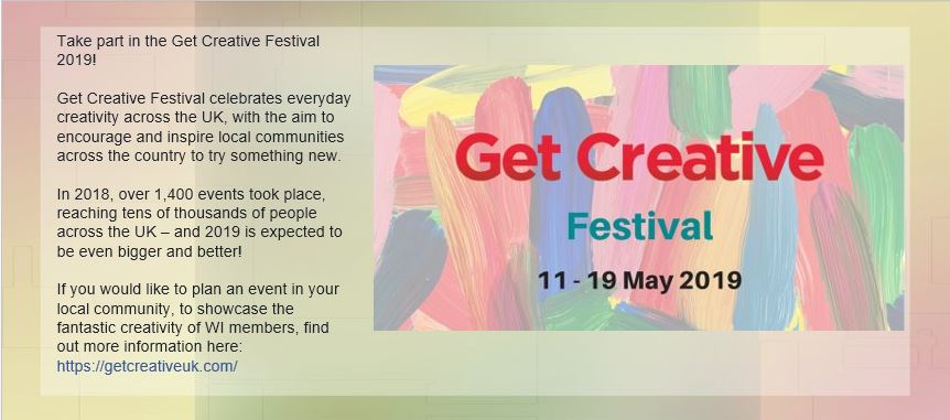 Get Creative Festival 11 – 19 May 2019