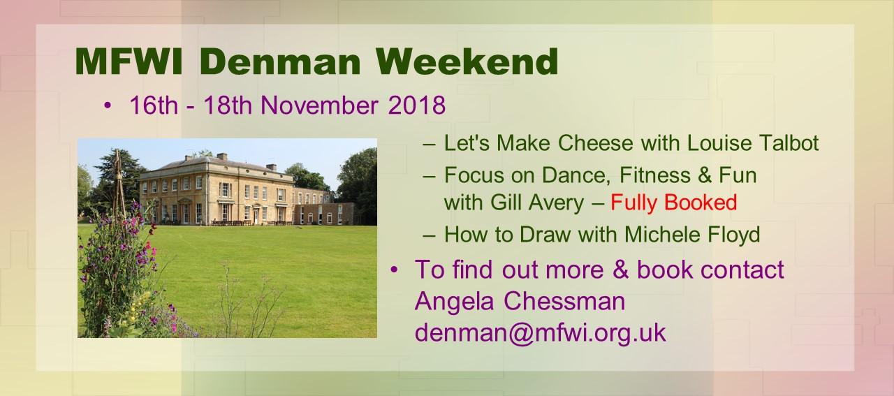 MFWI Denman Weekend 16 – 17th November 2018